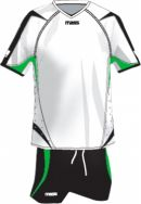 Massport, Kit Valencia _BIANCO-NERO-VERDE - Voetbaltenues