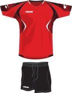 Gems, AB03 Kit Indiana Rosso/Nero - Voetbaltenues