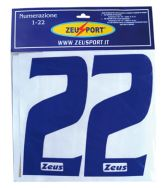 Zeusport, Numerazione completa 1-22 div - Accessoires