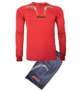 Zeusport, Kit Arbitro Pro M/L ROSSO GRIGIO - Scheidsrechterskleding
