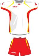 Gems, AA04 Kit Arizona Bianco/Rosso - Voetbaltenues
