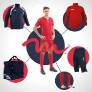 Massport, BOX6PZ Box Calcio Basic 6 pezzi blu-rosso - Box kit