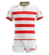 Zeusport, KIT RECCO _ROSSO-BIANCO-GOLD - Rugbykleding