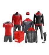 Zeusport, Box Kit Vesuvio Grigio-scuro tang red - Box kit
