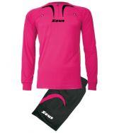 Zeusport, Kit Arbitro Pro M/L FUXIA-NERO - Scheidsrechterskleding