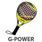 Gems, Racket G-Power Nero-oro - PADEL lijn
