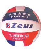 Zeusport PALLONE VOLLEY TRAINING SOFT TOUCH _BIANCO-ROSSO