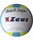 Zeusport PALLONE BEACH VOLLEY SUPER _BIANCO-ROYAL-GIALLO