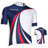 Patrick CYPERF102 Korte mouwen shirt   Navy-rood-wit