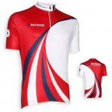 Patrick CYVIC102 Korte mouwen shirt Rood-wit-navy