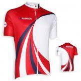 Patrick CYVIC101 Korte mouwen shirt Rood-wit-navy