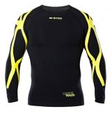 Errea MIZAR SHIRT L/S AD BLACK YELLOW_FLUO
