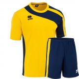 Errea Set Bolton shirt+ short giallo/blu