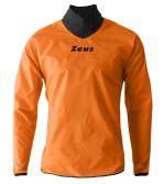 Zeusport Rain Jacket neck arancio fluo