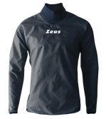 Zeusport Rain Jacket neck blu