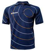 Zeusport Polo Orbit Blu-Arancio-Bianco